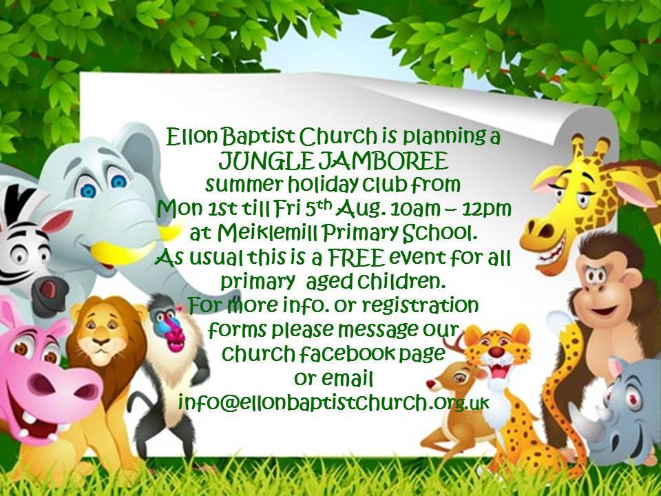 Jungle Jamboree 2016 - 1st to 5th August, p1 to p7