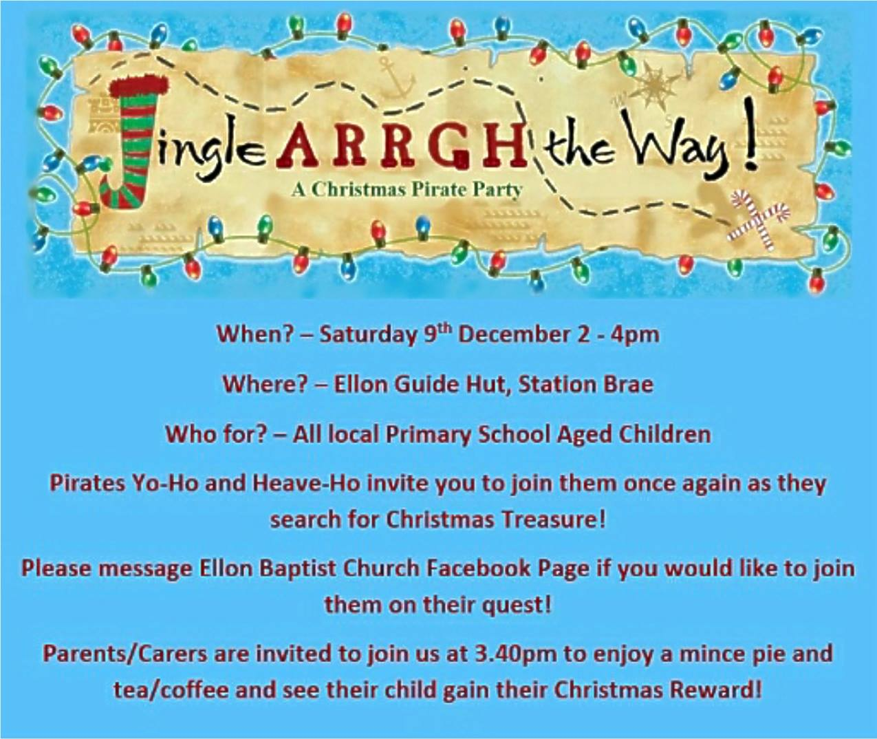 Jingle Arrgh the Way Kids Club - 7th December